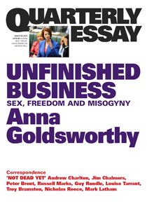 Unfinished Business by Anna Goldsworthy Cover