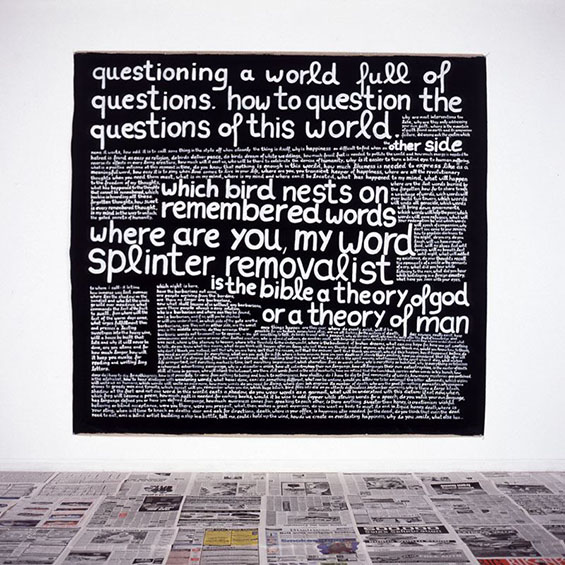 Questioning a world full of questions 225 x 225 2004-2005
