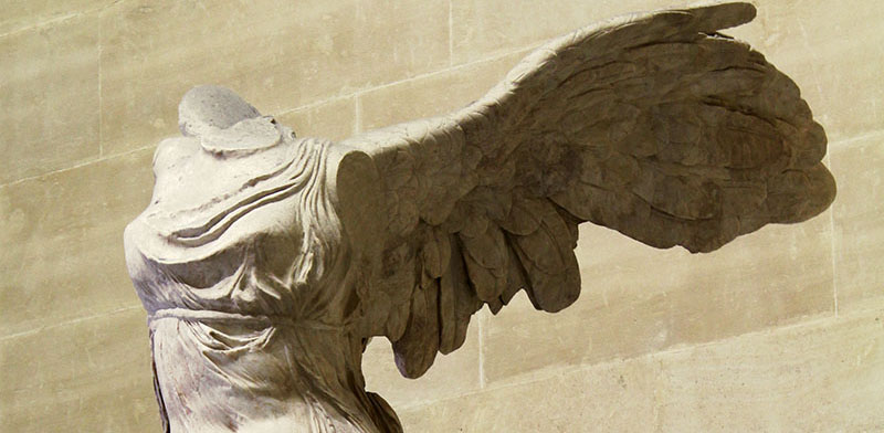 Winged Victory of Samothrace detail