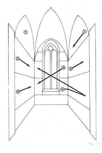Disposition of the narrative in Piero della Francesca's Legend of the True Cross.