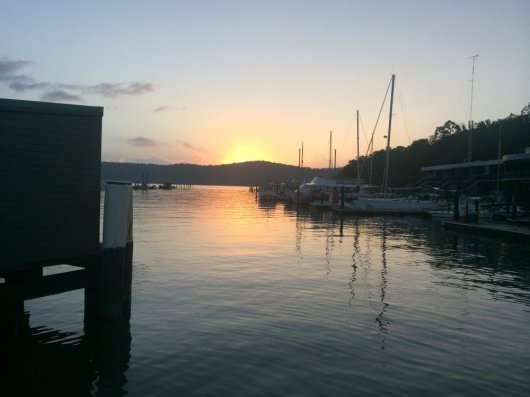 Hawkesbury sunrise at Brooklyn ferry wharf