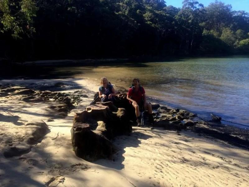 Tea spot on Flat Rock Beach, Garigal National Park