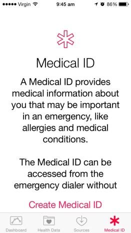 iPhone MedicalID