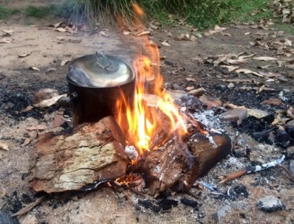 Long Gully Campsite fire