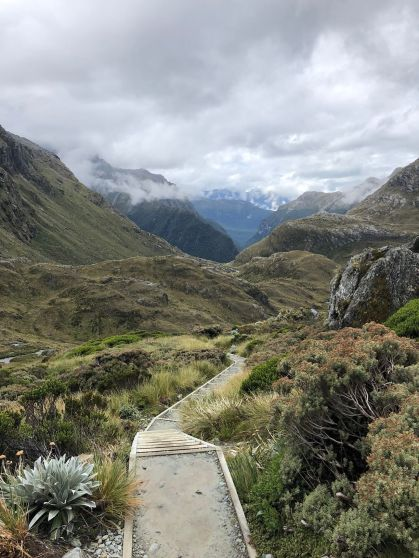 Towards the Routeburn Valley