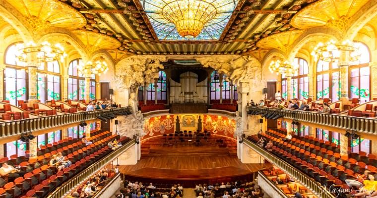 バルセロナのカタルーニャ音楽堂でオペラ鑑賞 PALAU DE LA MÚSICA CATALANA | BARCELONA