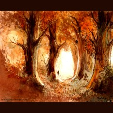 Fall - traditional watercolor and ink, 2014