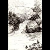 Fishing - ink drawing, 2015
