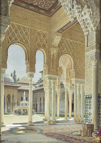 Istana Alhambra peninggalan Islam di kota Granada, Spanyol