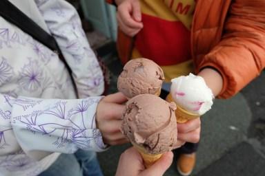 Never too cold for Ice cream break