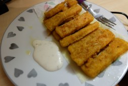 Fish Fingers with Garlic sauce