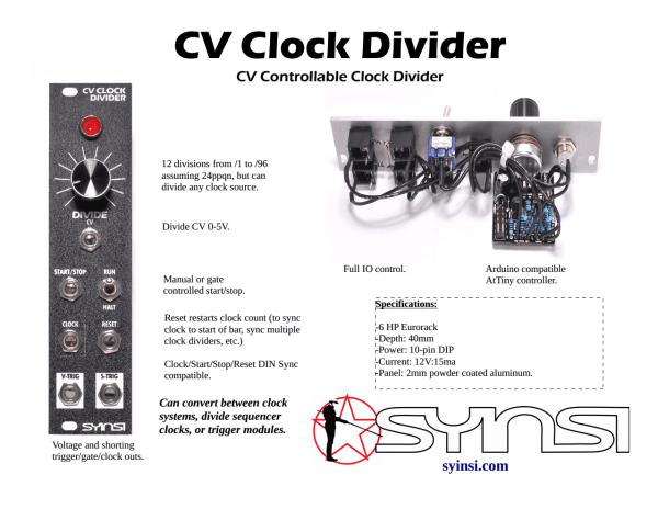 CV Clock Divider Promo Sheet