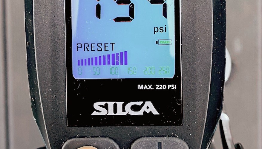 Test av Silca SuperPista digital gulvpumpe