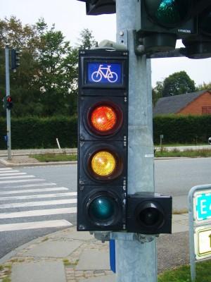 Trafikklys for syklister!