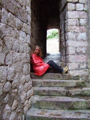 Hanne hviler i trappa!