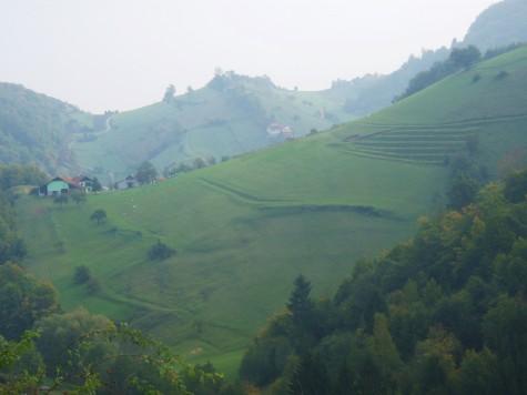 Svært kupert på landsbygda i Slovenia og Kroatia!