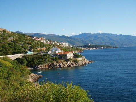 Herlig å sykle langs kysten i Kroatia!