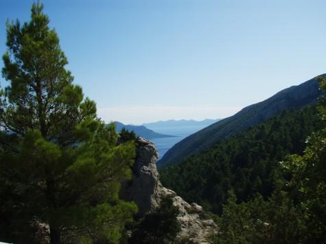 Flott utsikt over Middelhavet fra toppene!