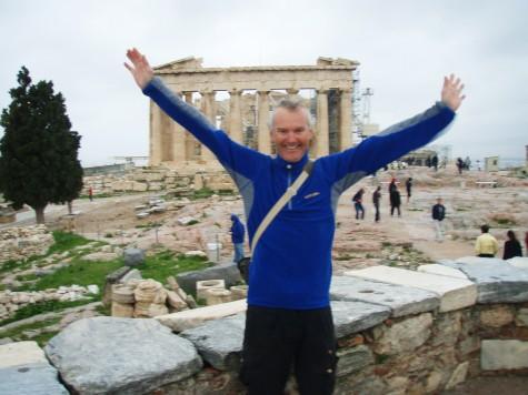 Godt å komme frem til Aten! Her på Akropolis.