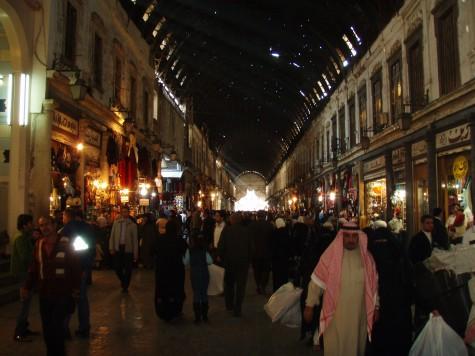 På besøk i basaren i gamlebyen i Damaskus!