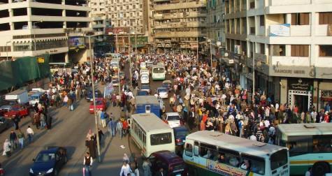 Lett å få en Calcutta følelse i Kairo! Rimelig kaotisk der!