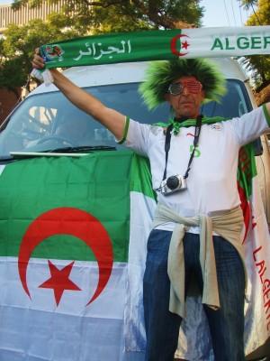 En optimistisk fan fra Algerie før møtet mot USA!