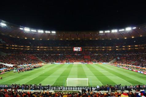 Og slik så det ut før finalen startet! Soccer City har 87 600 plasser.