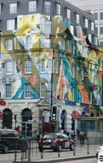 On the was to breakfast we passed this brightly painted building on Euston Road.