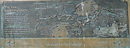 Modern canal route sign