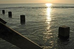 Sunrise in Bacton, Norfolk.