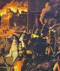 The Fire of Moscow began as Napoleon's vanguard entered the city in 1812.