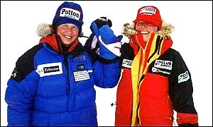 Fiona Thornewill & Catherine Hartley reached the South Pole in 2000.