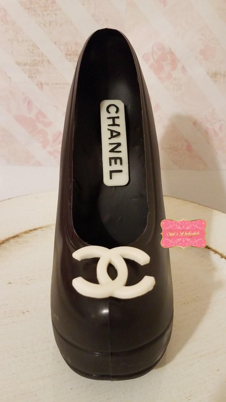 Stiletto chocolate pump