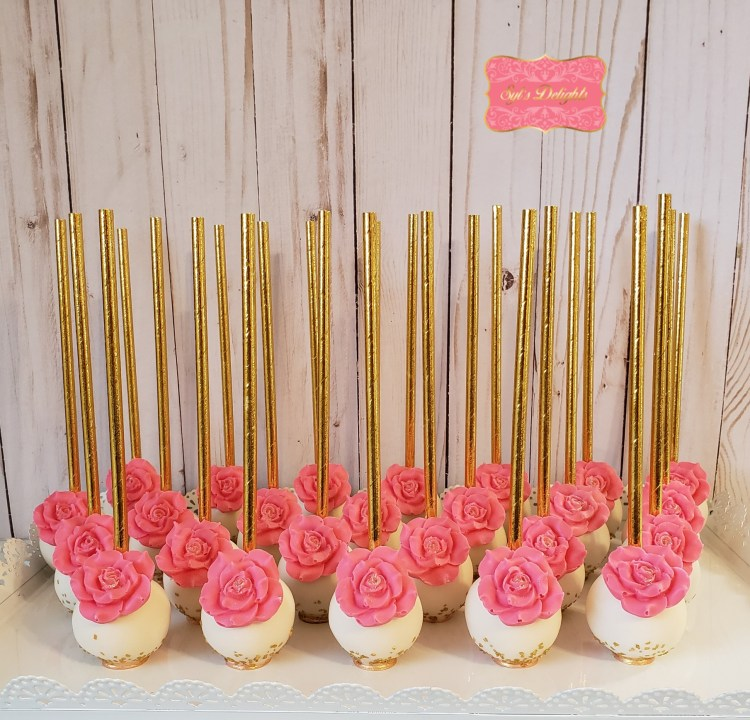 Elegant flower cakepop