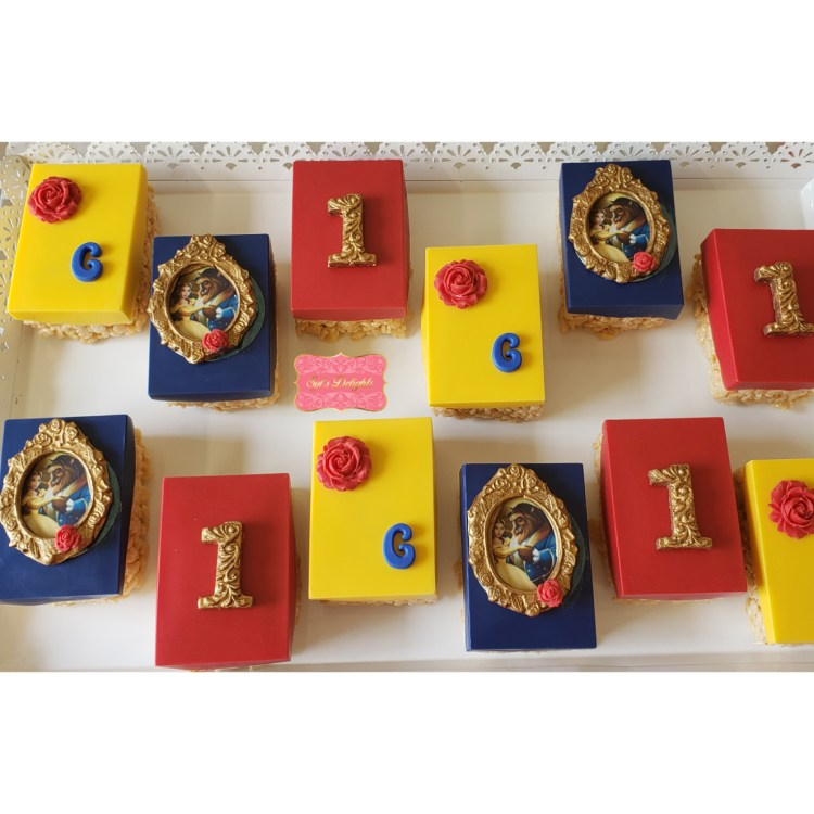 Beauty and the Beast rice krispies treats
