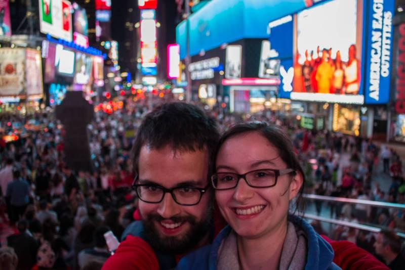 Visite de Times Squares, la nuit.