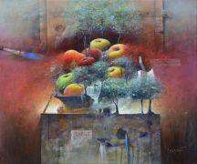 """""""Délire d'atelier"""" huile 54 x 42"""