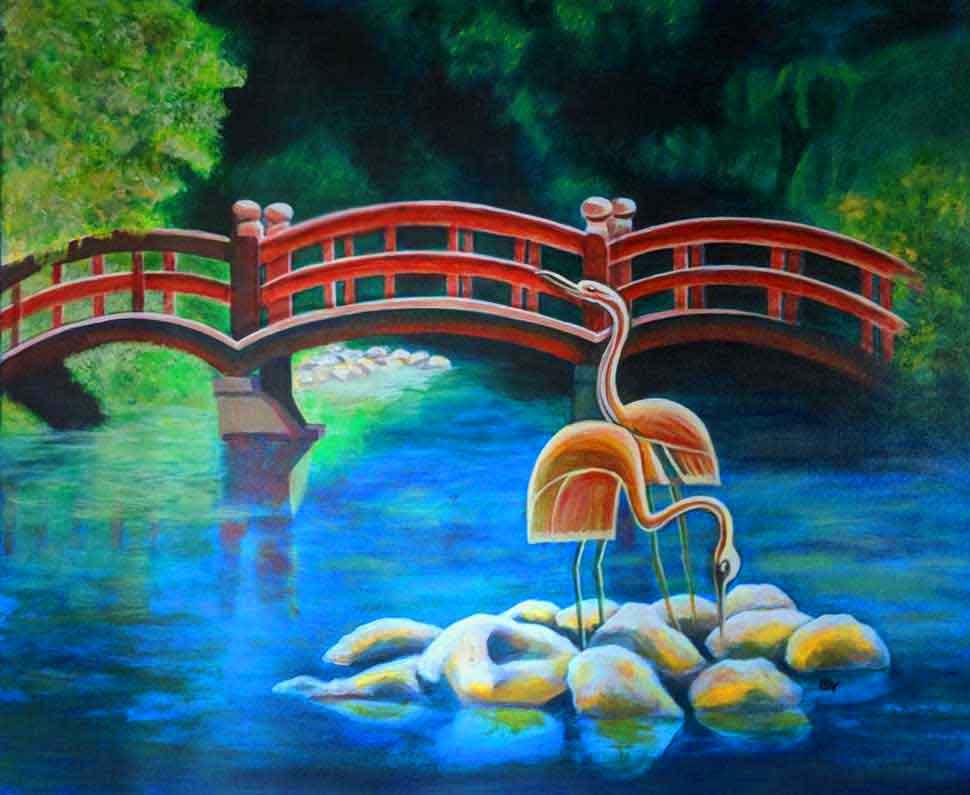 herons and bridge