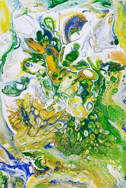 green gold pour