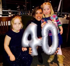 40 jaar verjaardag met mijn nichtjes