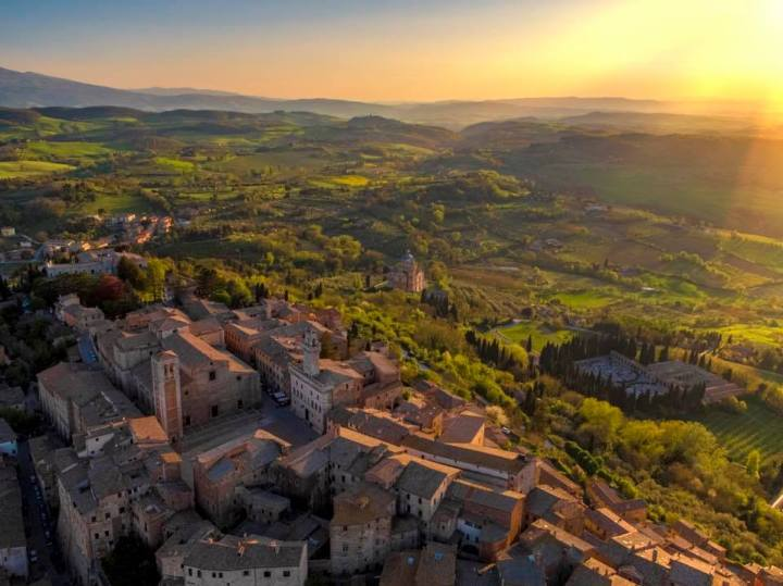 The landscape of Montepulciano Tuscany