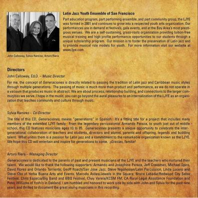 """Booklet Page 4 - """"Generaciones"""""""