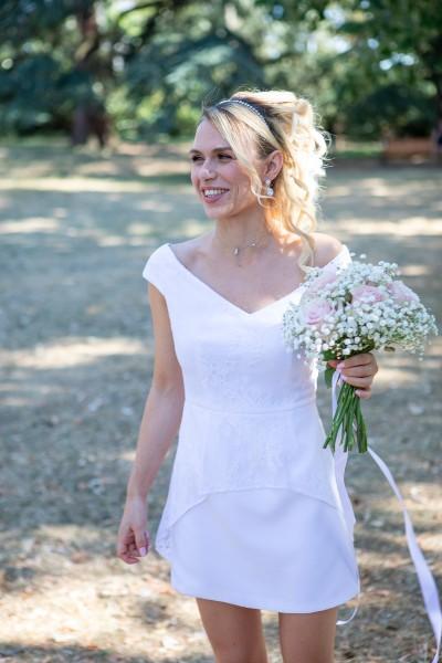 robe de mariage civil, robe de mariage civil Lyon, robe de mariée civile