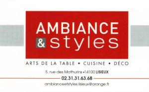 Ambiances et styles lisieux