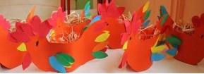 Les jolies poules de Pâques des petits.