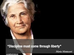 """Discipline must come through liberty"" M.Montessori"