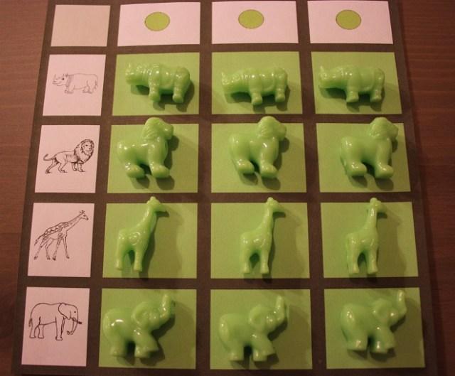 Montessori tableau concret