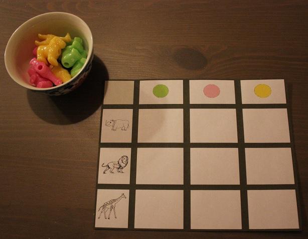 Montessori tableau à deux difficultés