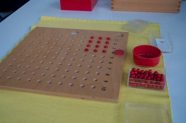 Montessori Tables de multiplications.