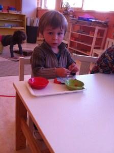 Montessori motricité fine
